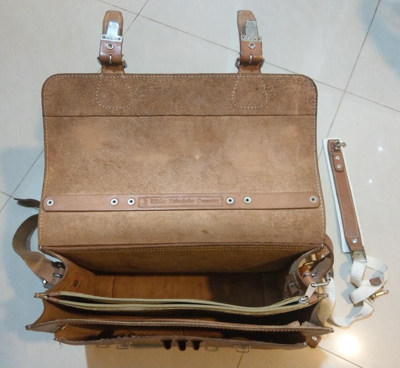 德國帶回來的真皮背包 公事包 書包 | 露天拍賣