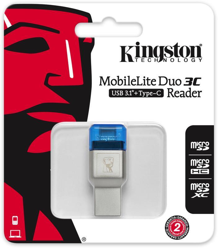 [二號出口]金士頓 Kingston MobileLite Duo 3C microSD 讀卡機 FCR-ML3C - 露天拍賣