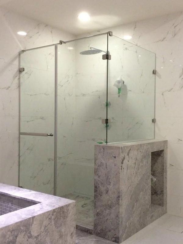 淋浴緩衝拉門 浴室拉門 玻璃門 乾濕分離 玻璃工程 五金配件 臺灣製造MIT - 露天拍賣