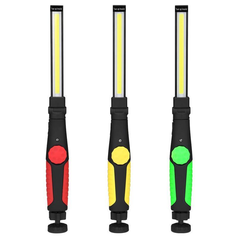 磁吸LED工作燈 COB 汽修 可調亮度 強磁底座 可折疊 可調角度 武士型 USB充電 - 露天拍賣