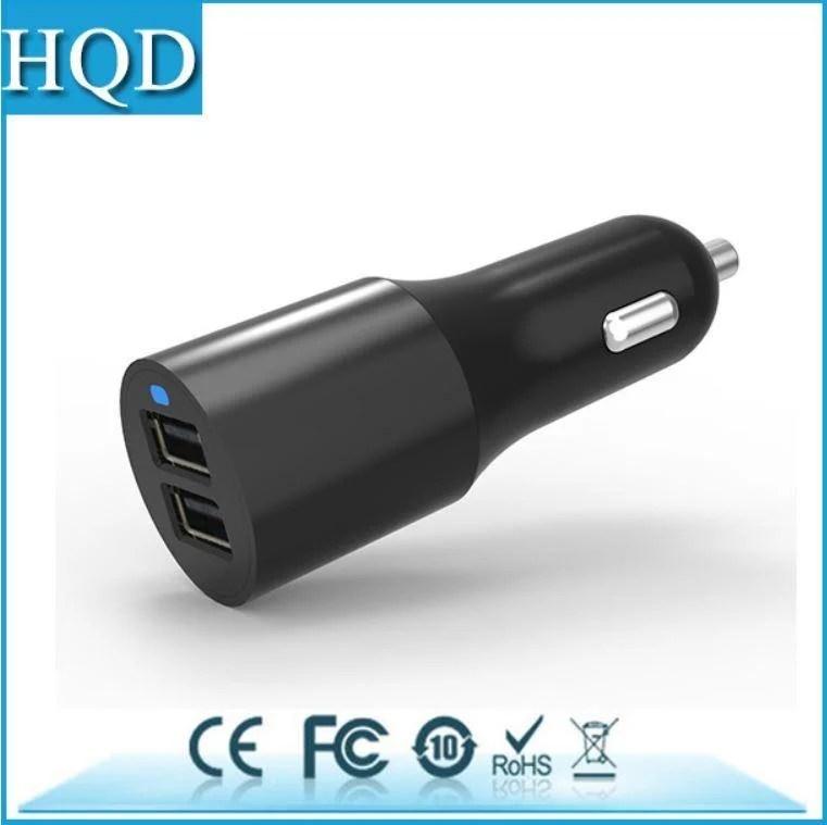 雙口USB車充 高通QC3.0閃充快充 車載 手機平板 車用充電器 二口 兩口 比QC2.0更優 黑色 - 露天拍賣