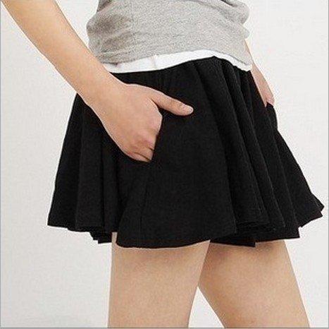 sale特賣會 顯瘦莫代爾短褲裙 短裙迷你裙褲 大碼胖MM可穿8色 129元 - 露天拍賣