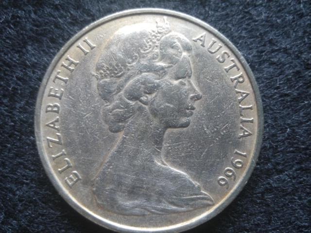【全球郵幣】澳洲 澳大利亞1966 20C大型錢幣 AUSTRALIA COIN | 露天拍賣