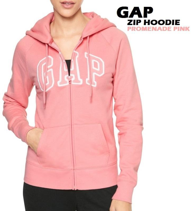 [現貨] 日本帶回正版 GAP 女連帽外套 帽T 拉鏈 長袖外套 gap帽t 秋冬外套 logo zip hoodie - 露天拍賣