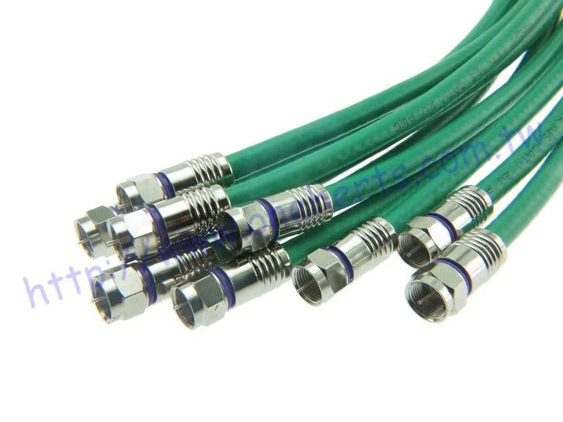 鳳梨頭RG59 推入式接頭 皺縮式F接頭 For CommScope F59 HEC-2 銀同軸電纜專用接頭 RF訊號 - 露天拍賣