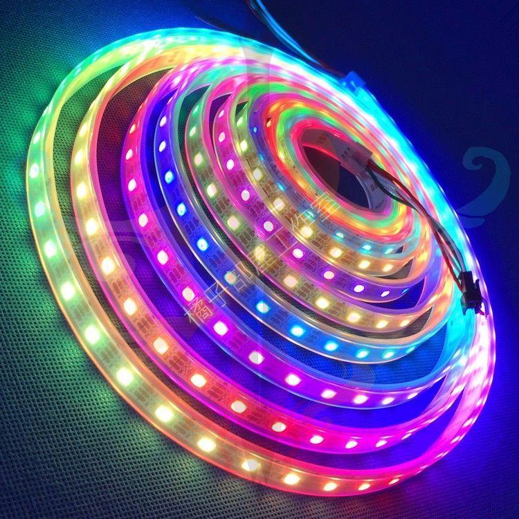 橘子部屋【WS2812B RGB LED燈條/60顆/一米計算/保護套管】ARDUINO 跑馬燈 RGB燈條 2812 - 露天拍賣