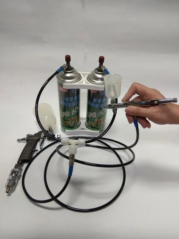 仙盈 全方位 空壓罐 空氣罐 管件組合 大噴槍小噴筆全部通用大流量雙罐並聯輸出 特價1080元含運 不含展示 ...