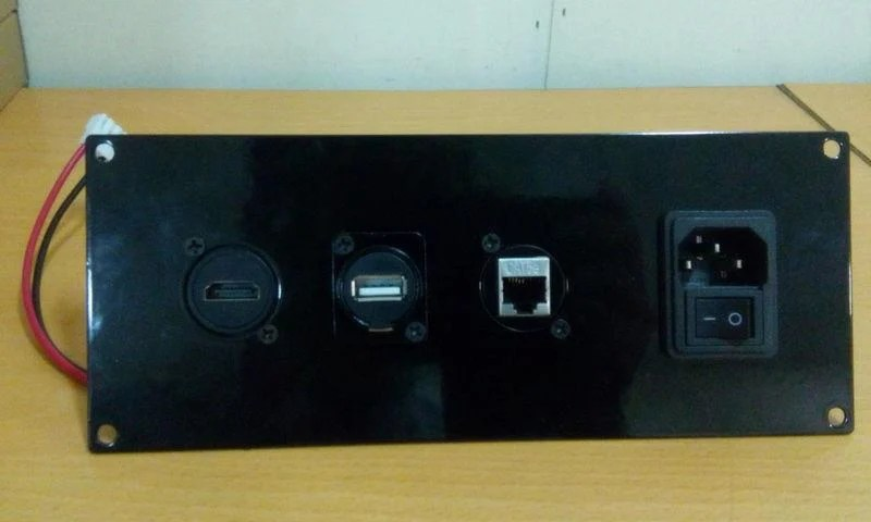 多功能模組化資訊座/資訊面板 AC電源 USB CAT-5e HDMI 母母雙通對接插座 - 露天拍賣