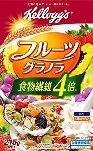 四倍食物纖維 超高纖麥片 215G kellogg日本高纖麥片 日清NISSIN可參考 - 露天拍賣