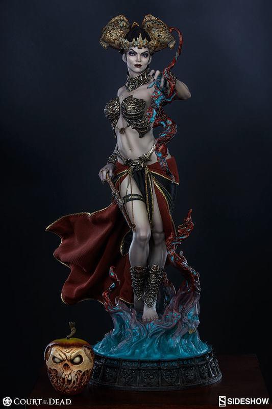 (售完,請勿下標Sideshow BenToy 死亡法庭Gethsemoni Shaper女巫全身雕像SC-300555 - 露天拍賣