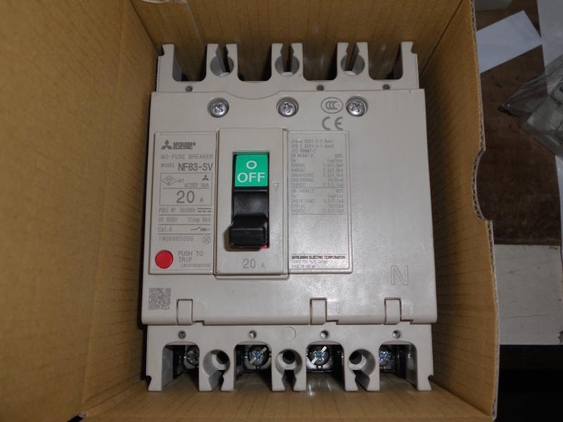 三菱 MITSUBISHI 無熔絲開關 NF63-SV 4P 20A 30A 斷路器 | 露天拍賣
