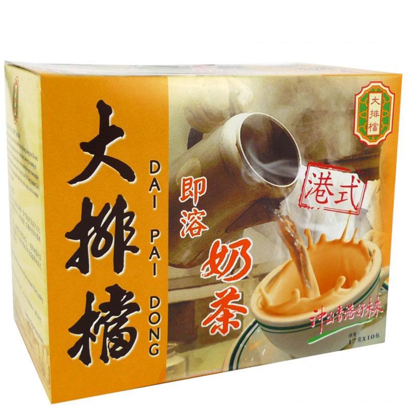 [現貨]香港大排檔三合一即溶奶茶17克x10包(盒)大排檔奶茶 港式奶茶 最佳伴手禮 - 露天拍賣
