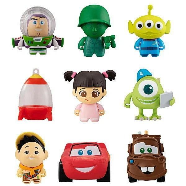 豪宅玩具TOY~轉蛋扭蛋BANDAI Disney迪士尼皮克斯朋友們Q版造型公仔02 三眼怪阿布綠色小兵3款合售 - 露天拍賣