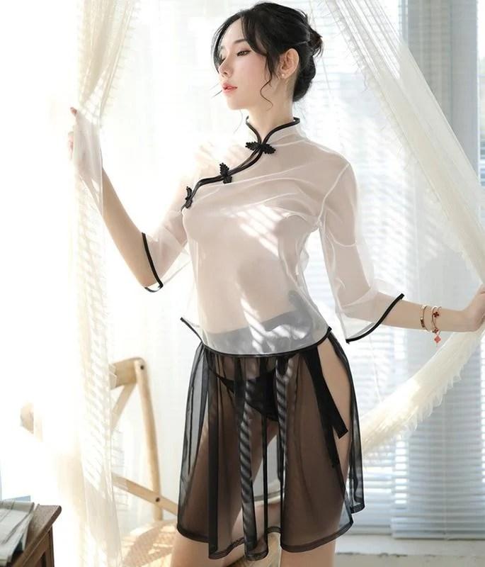 ☆☆透視超美薄紗旗袍中國風透視款《A2711》 - 露天拍賣