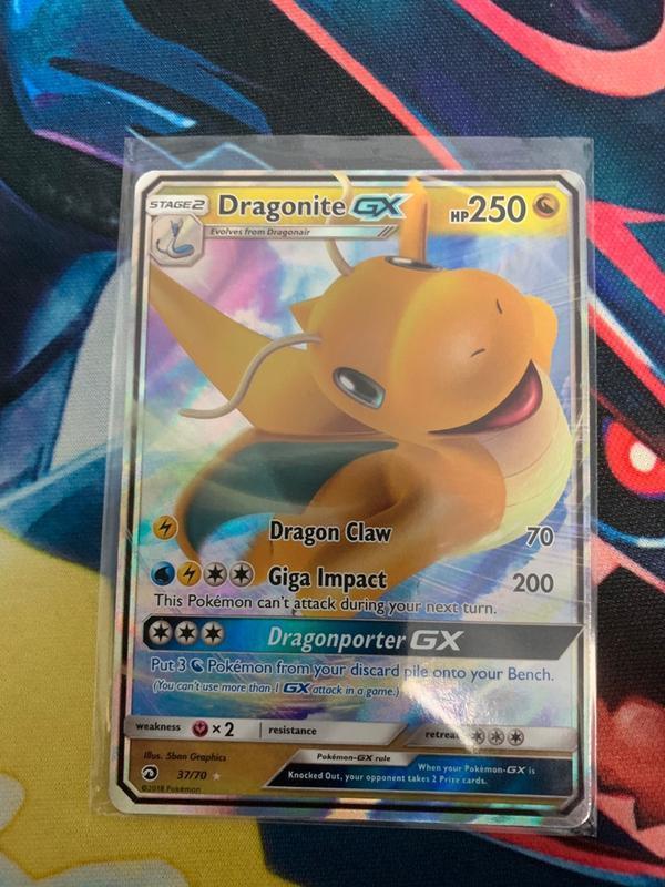 寶可夢 TCG 快龍 Dragonite GX - 37/70 神奇寶貝 卡牌 卡片 - 露天拍賣