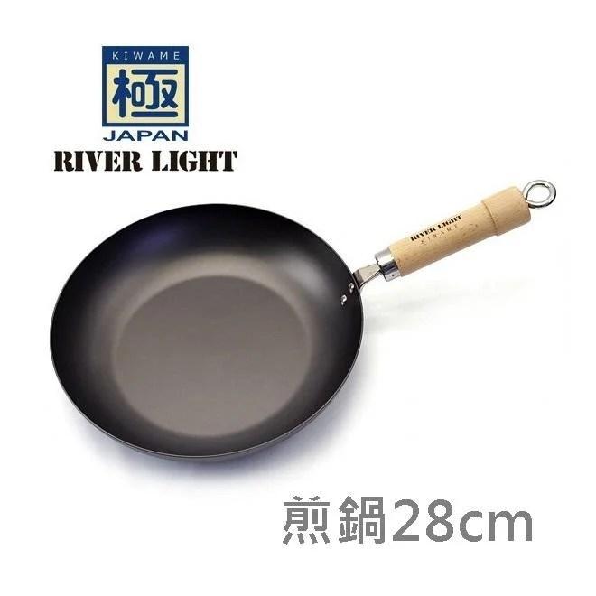 [偶拾小巷] 日本製 極 ROOTS 鐵鍋 平底煎鍋 28cm 原木手把 - 露天拍賣