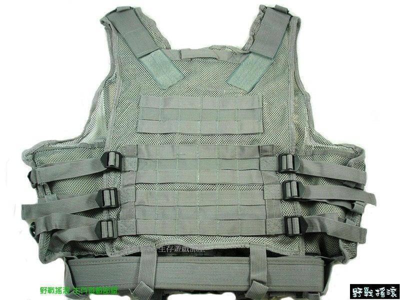 【野戰搖滾-生存遊戲部屋】高品質TAC-IV網狀戰術背心 - 附贈手槍槍套,S腰帶 (ACU迷彩) | 露天拍賣