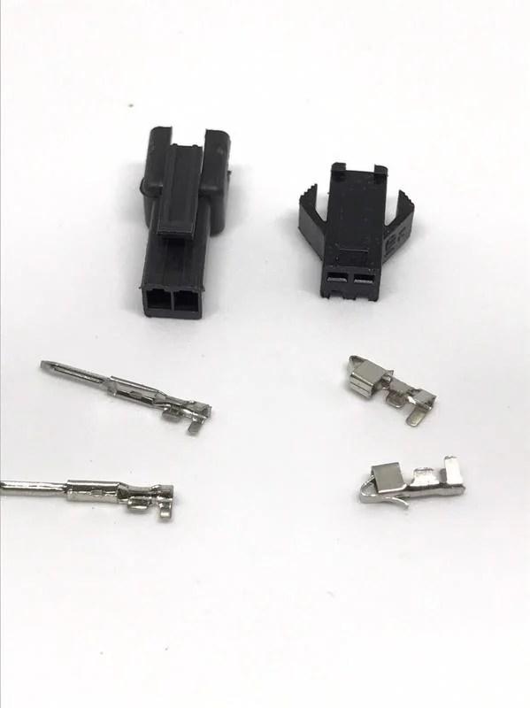 2.5mm 空中接頭 SM-M 端子及塑膠接頭 2PIN 兩孔接頭 2孔接頭 DIY接線 CCFL驅動器 - 露天拍賣