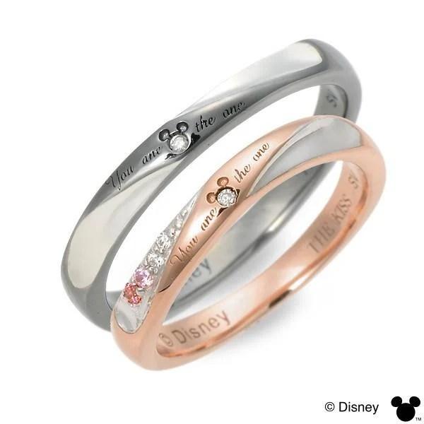 日本輸入 THE KISS 迪士尼 Disney 對戒 戒指 情人對戒 純銀戒 情人節 生日禮物 - 露天拍賣