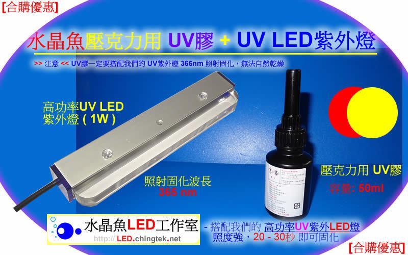 [合購優惠]壓克力/塑膠 專用UV膠 + UV膠固化燈 -快速 黏貼 固定與接著加工/非 氯仿 - 露天拍賣