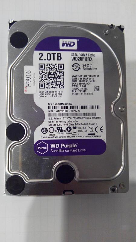 WD 紫標 2TB硬碟 - 露天拍賣