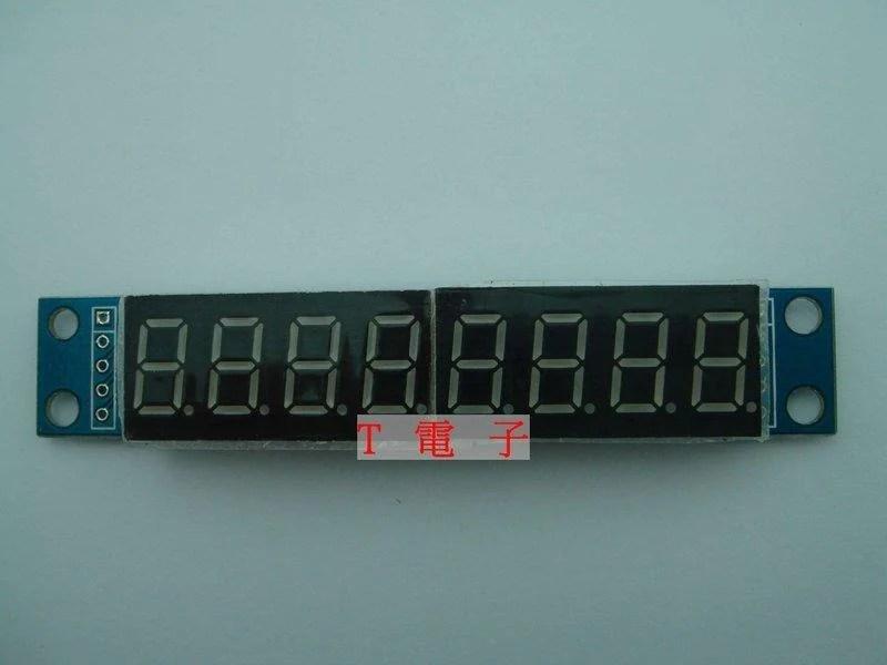 T電子 現貨 8位數字的7段數字LED顯示 可級聯成品 MAX7219模塊 Arduino UNO R3可用 - 露天拍賣