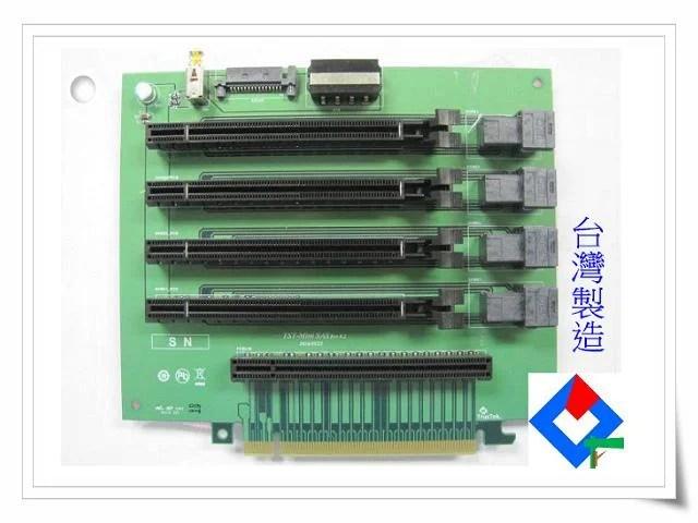 U.2 Mini SAS 轉 PCIe X8 Slot 轉接卡 測試卡 治具卡 檢測卡 (TST-Mini SAS) - 露天拍賣