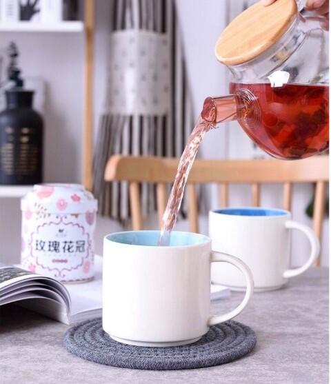 莫蘭迪可疊馬克杯 450ML 星巴克款 純色馬克杯 大容量 ins歐式系列 奶茶杯 早餐杯 簡約風格 牛奶杯 陶瓷 北歐 ...
