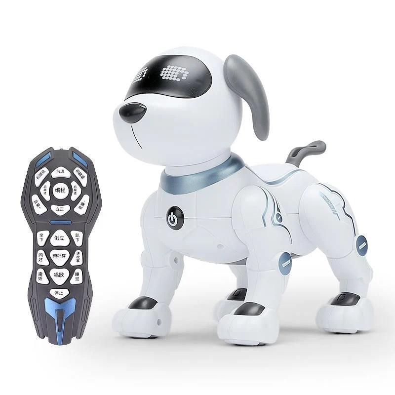 【正品】智能機器狗遙控動物玩具小狗狗走路會唱歌電動電子男孩寵物機器人 - 露天拍賣