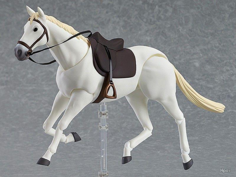 Figma 白馬16cm 白色 茶色/棕色 棕馬 超可動素體馬 | 露天拍賣