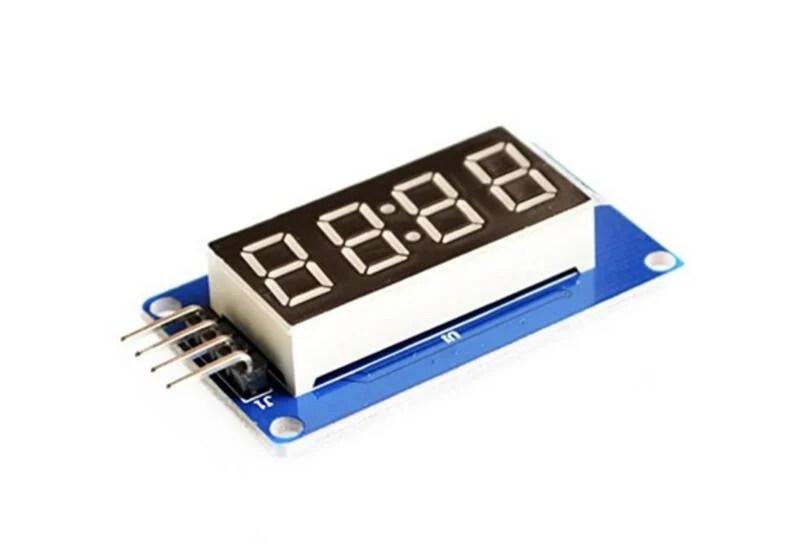 【樂意創客官方店】《附發票》Arduino 4位數字顯示模組 帶時鐘點 LED亮度可調 TM1637驅動 七段顯示器 | 露天拍賣