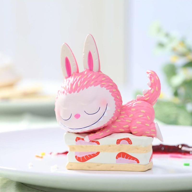 拉布布泡泡瑪特 LABUBU精靈甜品系列 可愛公仔潮玩擺件禮物娃娃 - 露天拍賣
