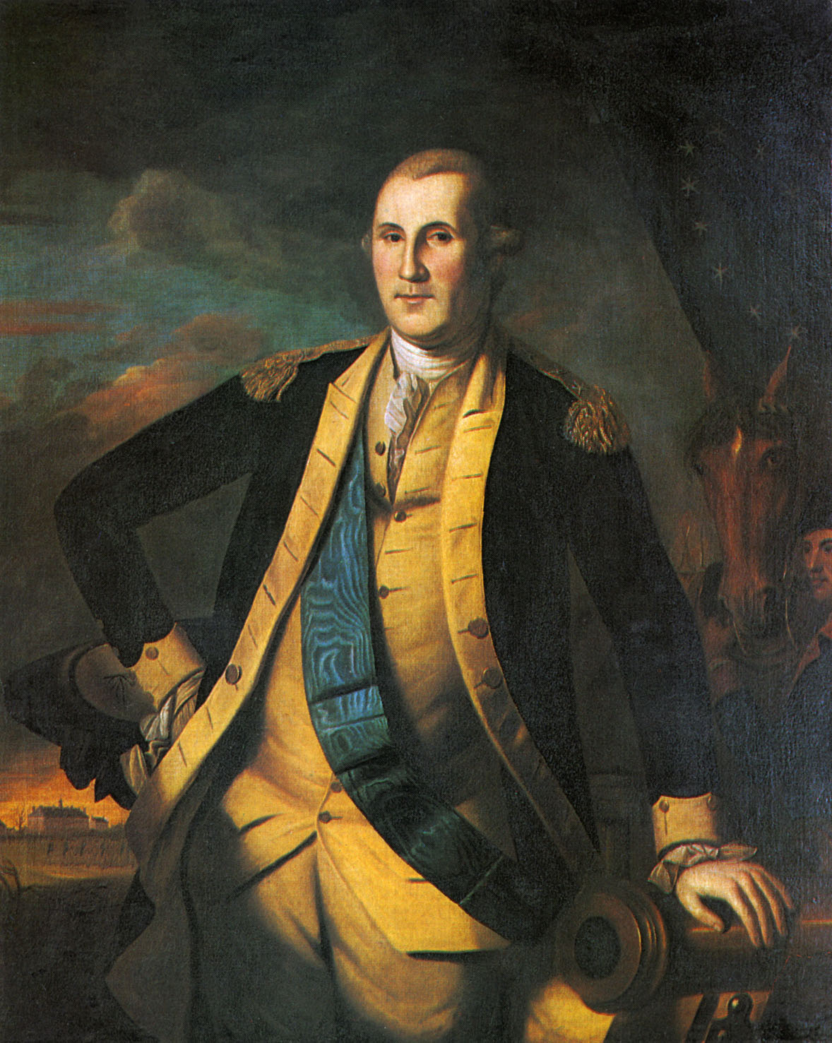 General George Washington - portrait of the first President of the United States (1789?97). 22 February 1732 - 14 December 1799. Painted by Charles Willson Peale, American painter, 15 April 1741 - 22 February 1827.