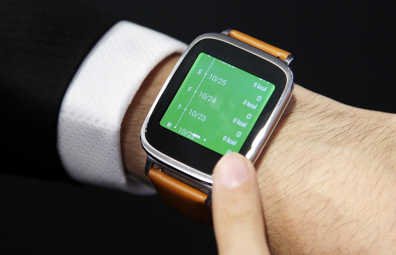 The Asus ZenWatch smartwatch.