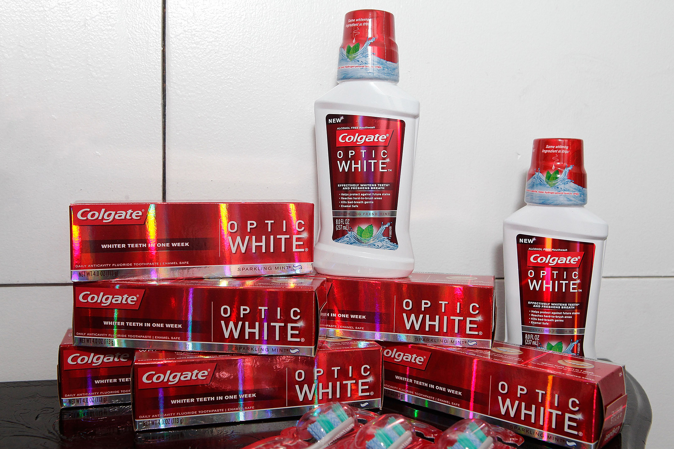 Colgate Optic White products.