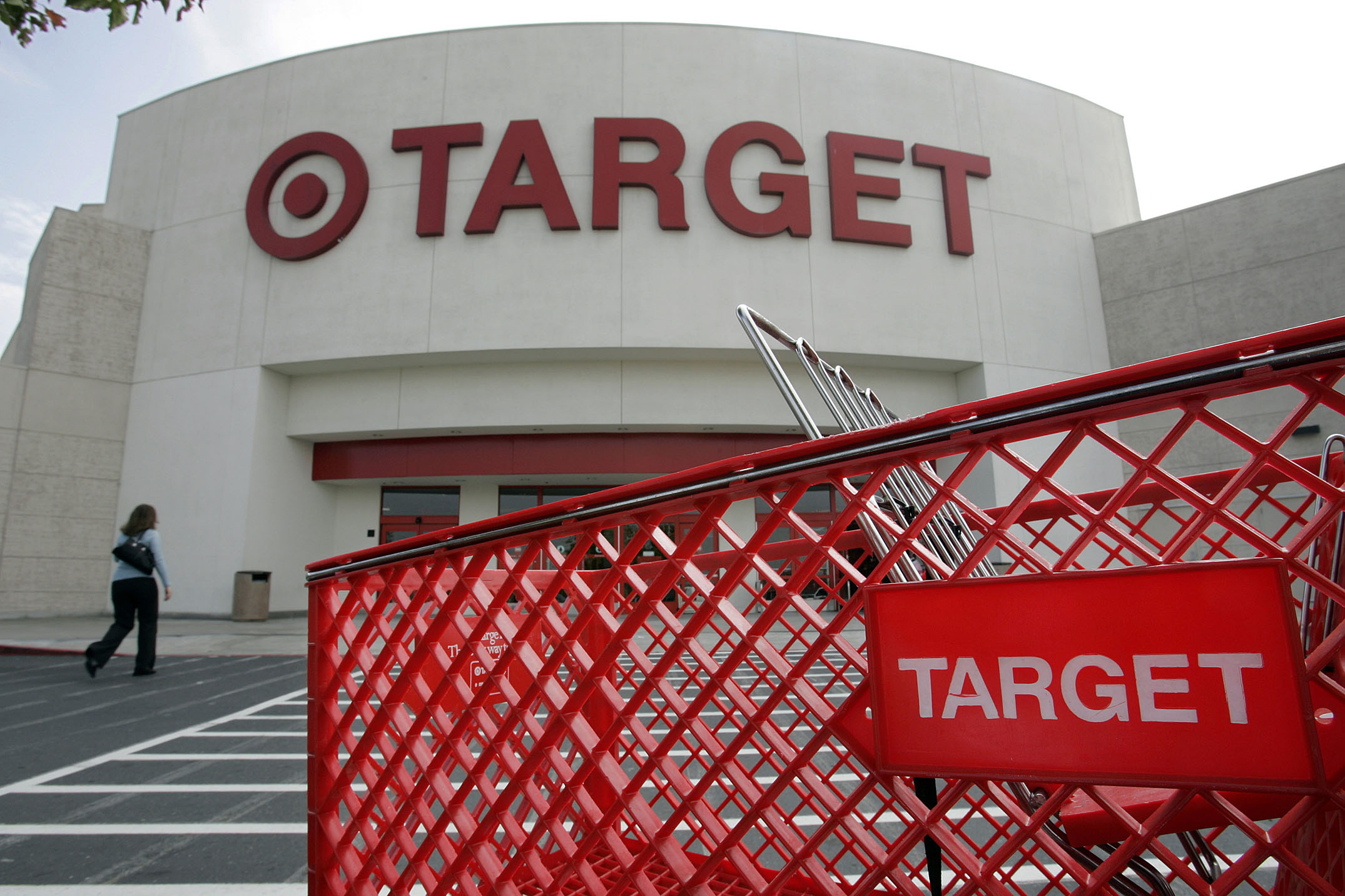 The front entrance of a Target store in Newark, Calif.