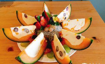 Kenfood 啃食物 台中西區甜點推薦 哈密瓜加起司,蹦出新哈味! 繽紛的水果起司蛋糕,是春天的味道