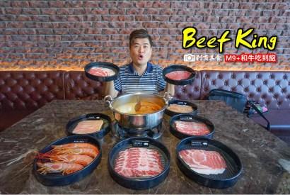 Beef King M9+頂級澳洲和牛火鍋吃到飽   台中公益路美食 和牛好吃 也推鹿兒島茶美豬 美國紅櫻豚