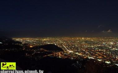 [北海道]一覽札幌市區的美麗夜景-『藻岩山纜車&山頂展望台』