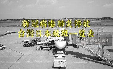 新冠病毒肺炎停航減班 台灣日本航線一覽表(隨時更新)