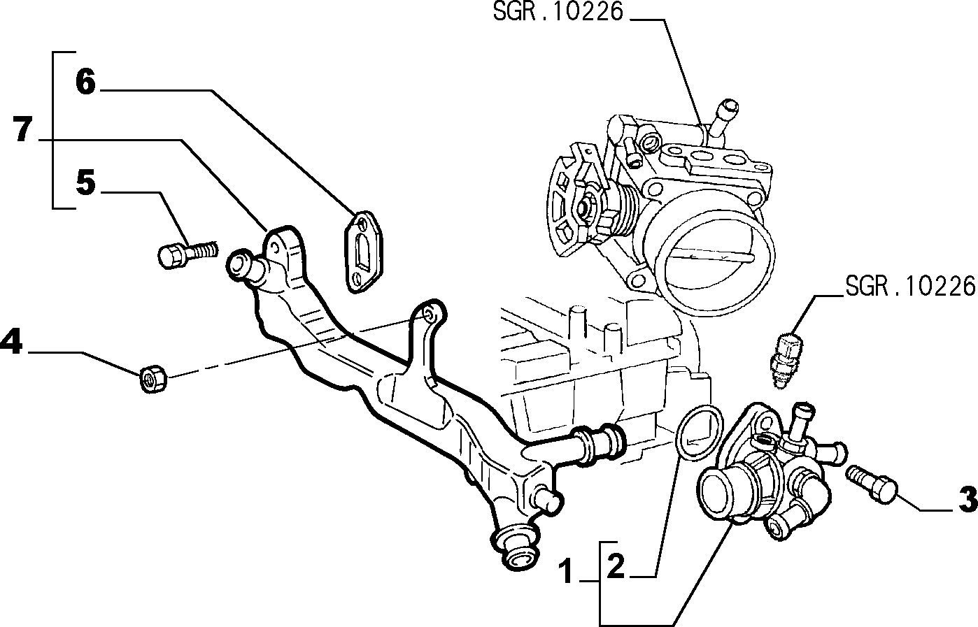 Catalogue Alfa Romeo 147 BZ/DS (2000-2010): COOLING SYSTEM