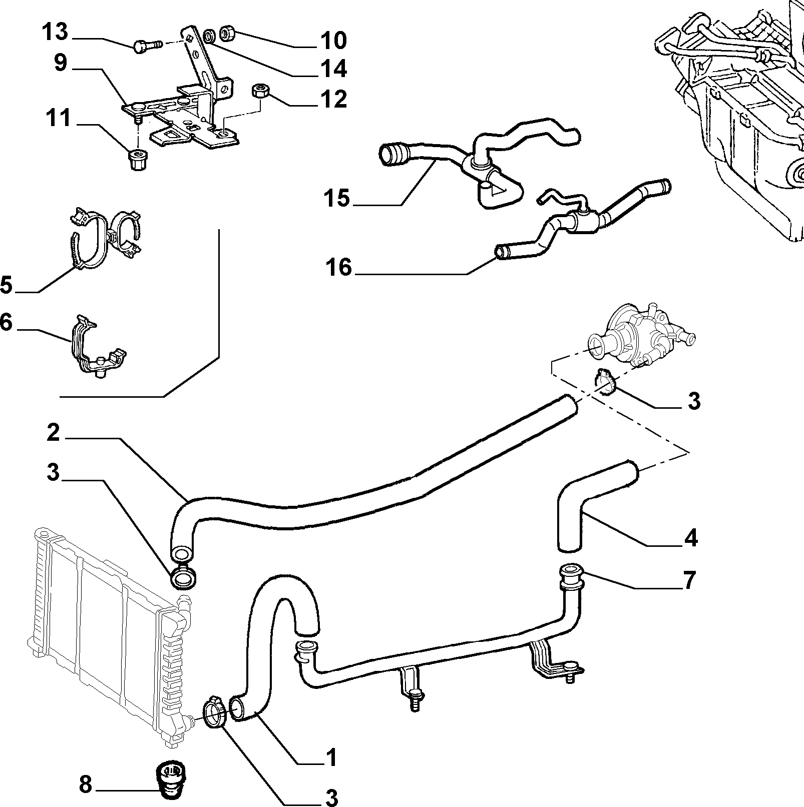 Catalogue Alfa Romeo 166 BZ-DS (1998-2007): COOLING SYSTEM