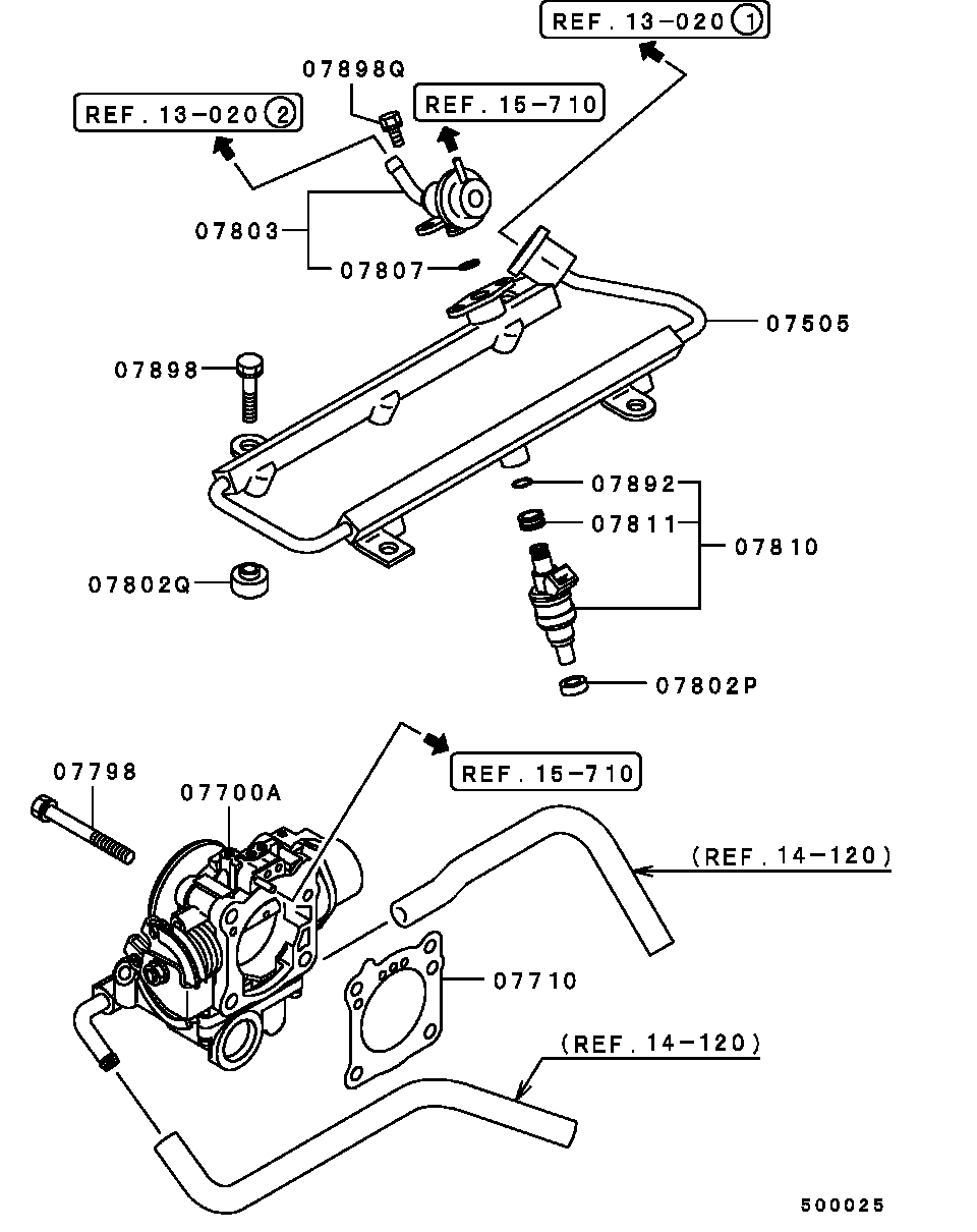 medium resolution of injector throttle body all assembly