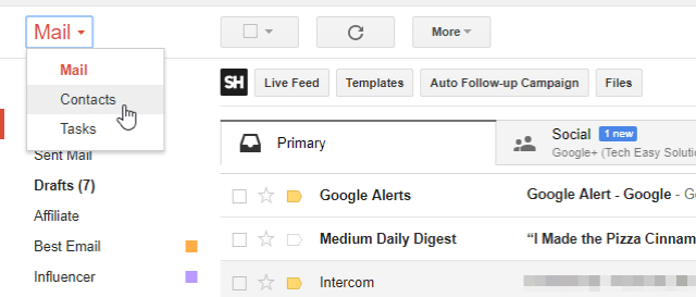 How to export Contact from gmail