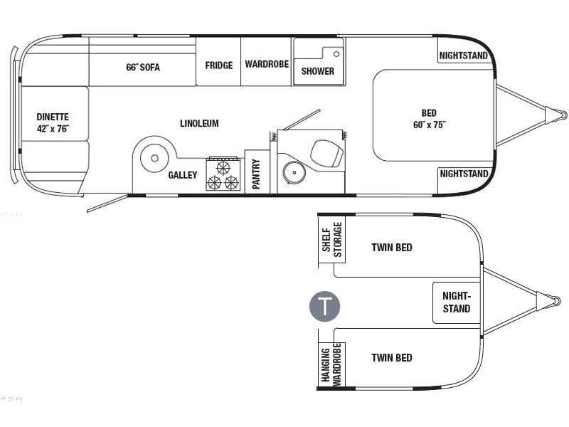 Airstream 27 Fb Flying Cloud rvs for sale