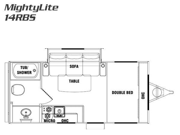 Pacific Coachworks Mighty Lite 14rbs RVs for sale