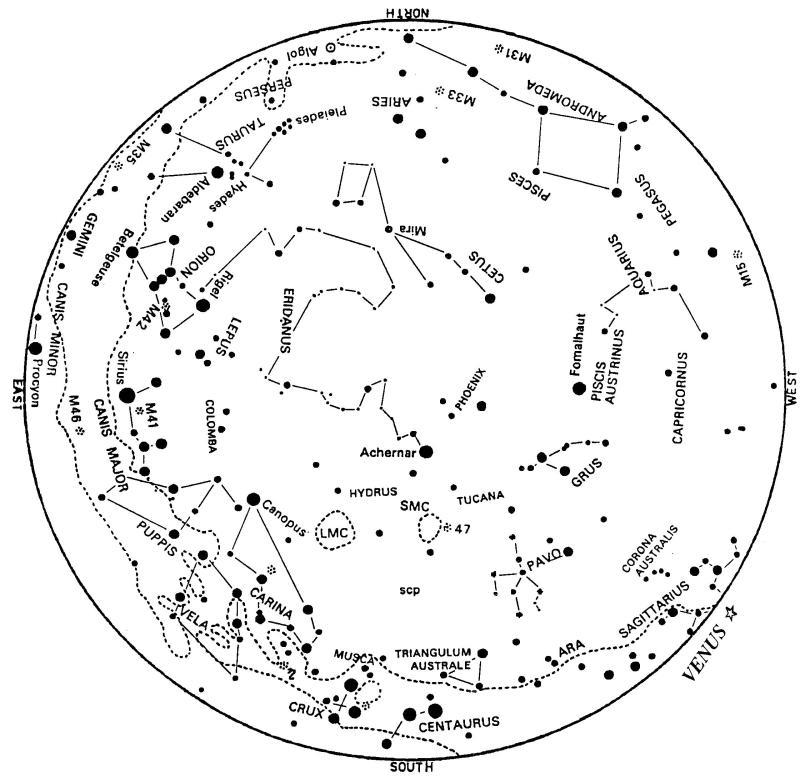 Night Sky Map Tonight Planets