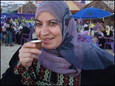 Gaza beach vox pop -woman