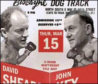 John Key, David Shearer, boxing