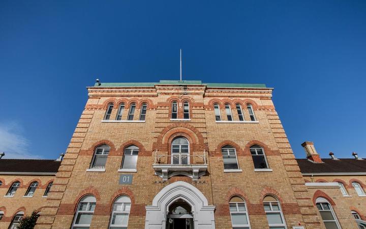a brick polytechnic building